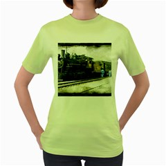 The Steam Train Green Womens  T-shirt