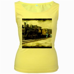 The Steam Train Yellow Womens  Tank Top