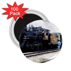The Steam Train 100 Pack Regular Magnet (Round)