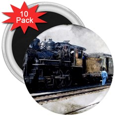 The Steam Train 10 Pack Large Magnet (round)