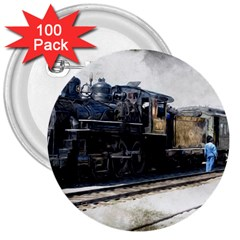 The Steam Train 100 Pack Large Button (Round)
