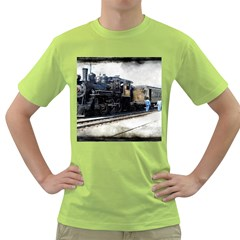 The Steam Train Green Mens  T-shirt