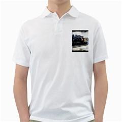 The Steam Train White Mens  Polo Shirt