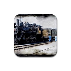 The Steam Train 4 Pack Rubber Drinks Coaster (Square)