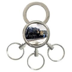 The Steam Train 3 Ring Key Chain