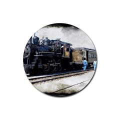 The Steam Train 4 Pack Rubber Drinks Coaster (Round)