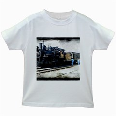 The Steam Train White Kids'' T Shirt