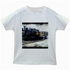 The Steam Train White Kids'' T-shirt