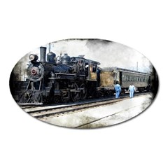 The Steam Train Large Sticker Magnet (oval)