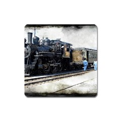 The Steam Train Large Sticker Magnet (Square)