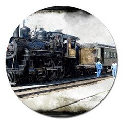 The Steam Train Extra Large Sticker Magnet (Round)