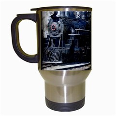 The Steam Train White Travel Mug