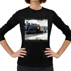 The Steam Train Dark Colored Long Sleeve Womens'' T-shirt