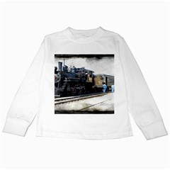 The Steam Train White Long Sleeve Kids'' T-shirt