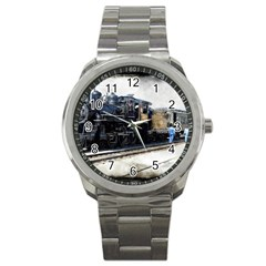 The Steam Train Stainless Steel Sports Watch (Round)