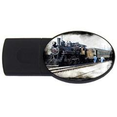 The Steam Train 4gb Usb Flash Drive (oval)
