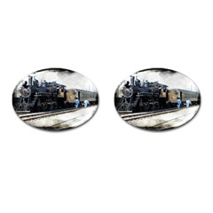 The Steam Train Oval Cuff Links