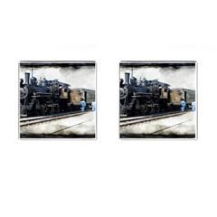 The Steam Train Square Cuff Links