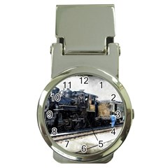The Steam Train Chrome Money Clip With Watch