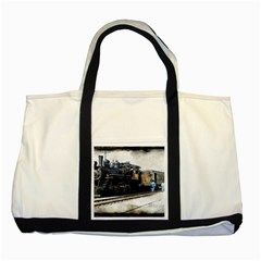 The Steam Train Two Toned Tote Bag