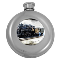 The Steam Train Hip Flask (Round)