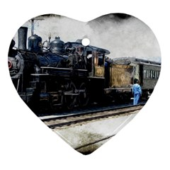 The Steam Train Heart Ornament (Two Sides)