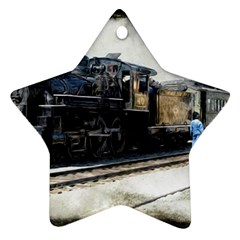 The Steam Train Twin-sided Ceramic Ornament (Star)