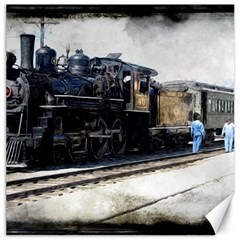 The Steam Train 12  X 12  Unframed Canvas Print