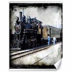 The Steam Train 18  X 24  Unframed Canvas Print