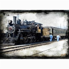 The Steam Train 20  x 24  Unframed Canvas Print