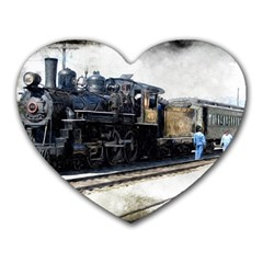 The Steam Train Mouse Pad (Heart)