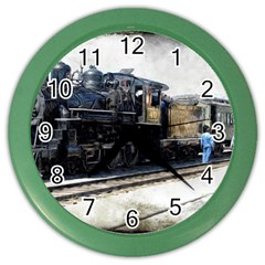 The Steam Train Colored Wall Clock