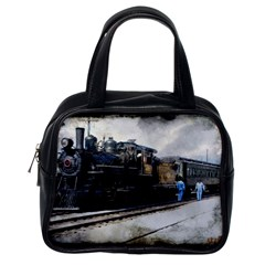 The Steam Train Single-sided Satchel Handbag