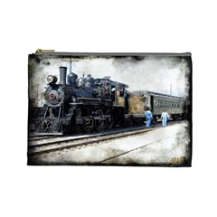 The Steam Train Large Makeup Purse