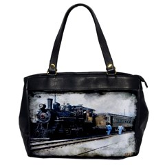 The Steam Train Single-sided Oversized Handbag