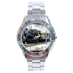 The Steam Train Stainless Steel Analogue Watch (Round)