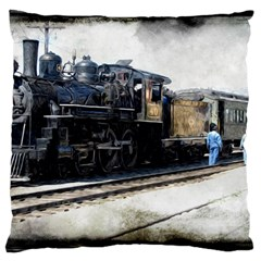 The Steam Train Large Cushion Case (two Sides)