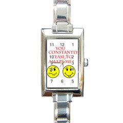 Cease To Amaze Classic Elegant Ladies Watch (Rectangle)
