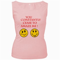 Cease To Amaze Pink Womens  Tank Top