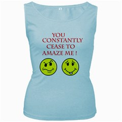 Cease To Amaze Baby Blue Womens  Tank Top