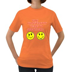 Cease To Amaze Dark Colored Womens'' T-shirt