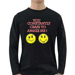 Cease To Amaze Dark Colored Long Sleeve Mens'' T-shirt