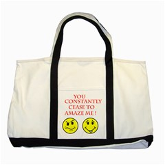 Cease To Amaze Two Toned Tote Bag