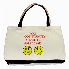 Cease To Amaze Twin-sided Black Tote Bag