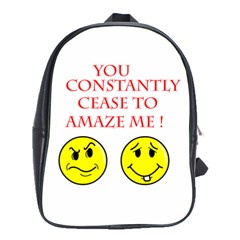 Cease To Amaze Large School Backpack