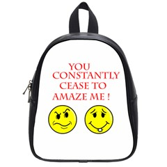 Cease To Amaze Small School Backpack