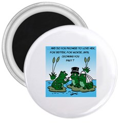 Frogswedding Large Magnet (Round)