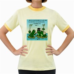 Frogswedding Colored Ringer Womens  T-shirt