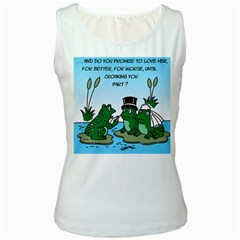 Frogswedding White Womens  Tank Top