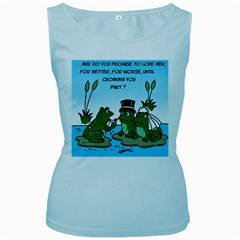 Frogswedding Baby Blue Womens  Tank Top